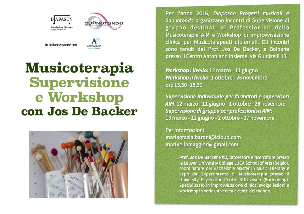Supervisione Jos de Backer Bologna 2016